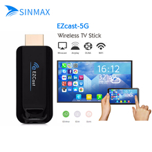 2 шт. EZcast 5 г hdmi 1080 P ТВ-карты Dongle дисплей DLNA Miracast Airplay DLNA Chromecast stick для iOS андроид оконные рамы смартфон