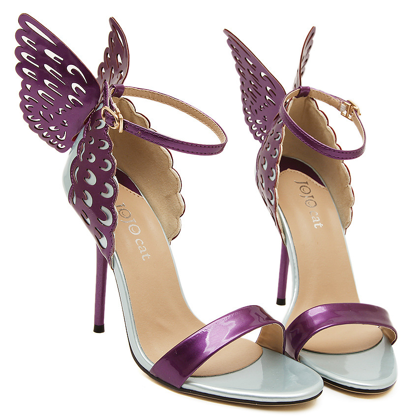 Women's Shoes Brand Sandals Thin High Heels Butterfly Sexy ...