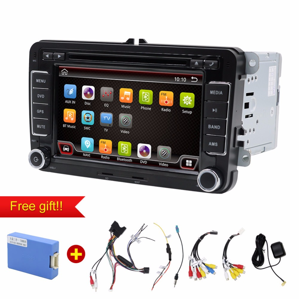 car dvd android 2 Din 7Inch Car DVD Player For VW/Passat/POLO/GOLF/Skoda/Seat/Leon With GPS Navigation FM RDS Maps isudar car multimedia player automotivo gps autoradio 2 din for skoda octavia fabia rapid yeti superb vw seat car dvd player