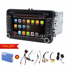 car dvd android 2 Din 7Inch Car DVD Player For VW/Passat/POLO/GOLF/Skoda/Seat/Leon With GPS Navigation FM RDS Maps