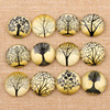 onwear mixed handmade black tree photo glass round cabochon 10mm 12mm 14mm 18mm 20mm 25mm diy cameo jewelry findings