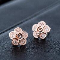 MZC New Design Jewelry S925 Silver Zircon K-Pop Oorbellen Flower Earrings for Femme Brincos Ouro Boucle Women Ear Earings Gifts