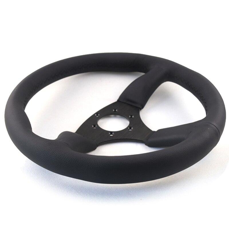 leather racing steering wheel