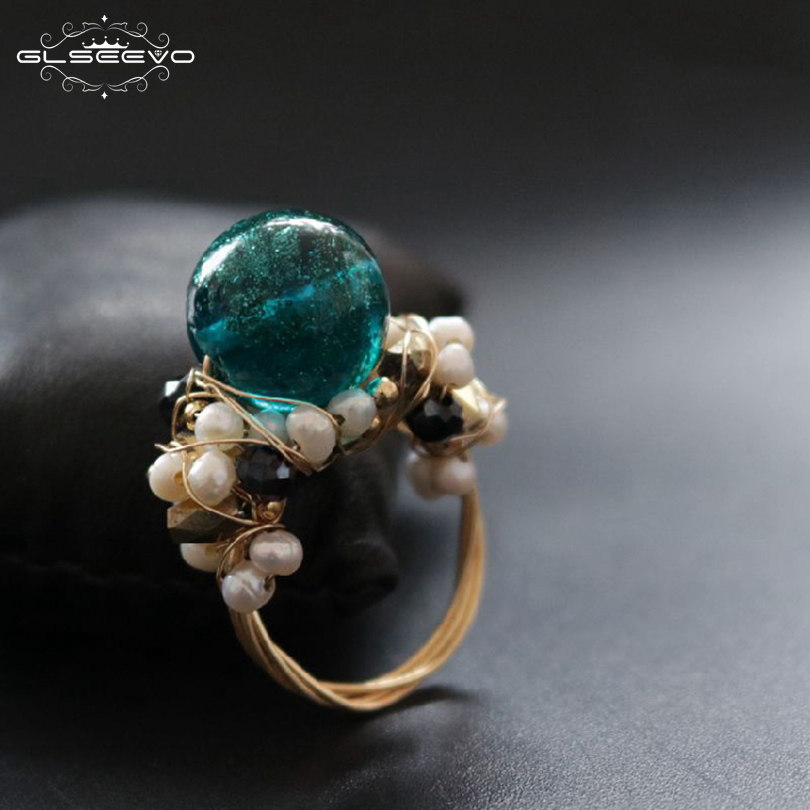 0533641f0fe3e Baroque Pearl Ring Real 925 Sterling Silver Exaggerated Creative ...