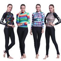 DIVE SAIL Diving Suit Women Long Sleeve Swimwear Rash Guard Surfing Swimming Snorkeling Breathable Leisure Tops