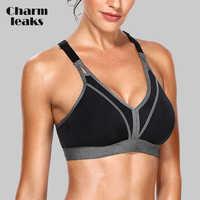 Charmleaks Frauen Sport-Bh Hohe Auswirkungen Unterstützung Backcross Yoga Bh Lauf Training Bh Unterwäsche Professionelle Fitness Sport Top