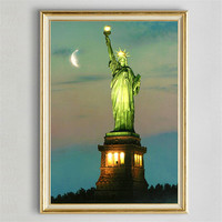 Hot 5D DIY Diamond Mosaic Embroidery Statue Of Liberty Diamond Painting Full Square Rhinestone Cross Stitch