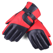 Winter Outdoor Sports Snowboard Glove Warmers Hand Snow Windproof Waterproof Leather Men Motorcycle Hiking Cycling Ski