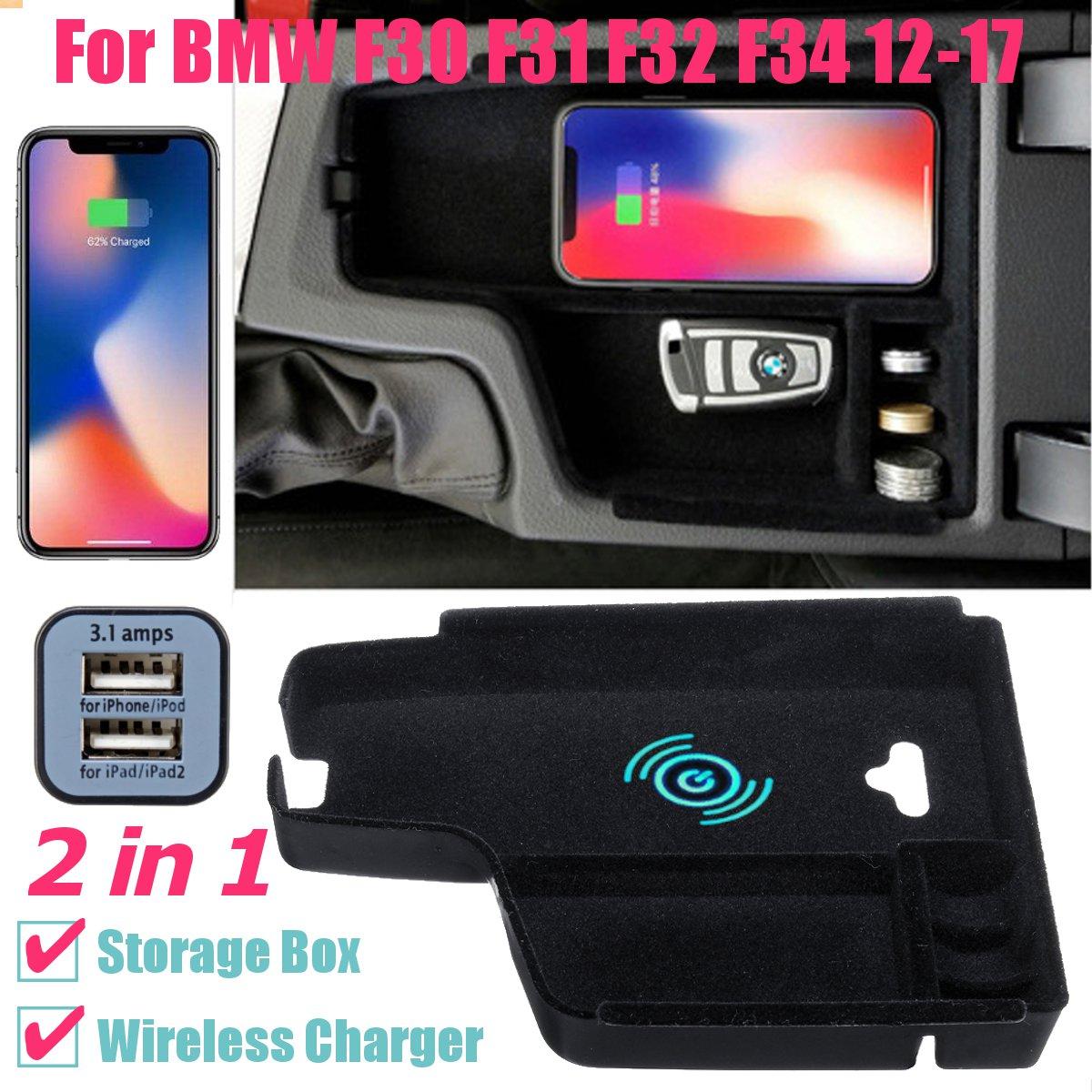 携帯電話ワイヤレス充電収納ボックス Bmw 5 6 シリーズ X3 X4 X5 X6 G30 G38 F10 F15 F16 f20 F21 F25 F30 F32 F34 F48