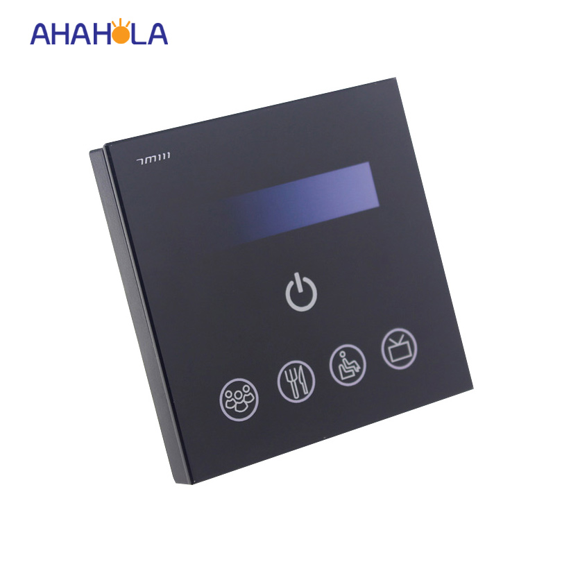 ФОТО touch panel 110v/220v triac led wifi controller dimmer for single color led strip ios android system used brightness adjustable
