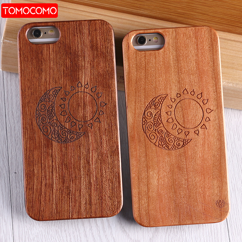 TOMOCOMO Real Bamboo Wood Case For iPhone 7 6 6S Plus Case For iPhone 8 Coque Phone Accessories For SAMSUNG S8 S9 S9 Plus Cover