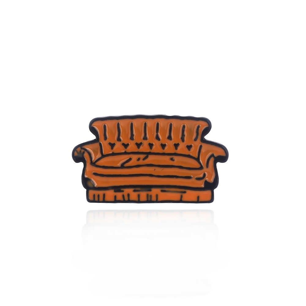 America Tv Show Friends Pins Brooch Crayfish Sofa Coffee Christmas Turkey Metal Enamel Figure Brooches Best