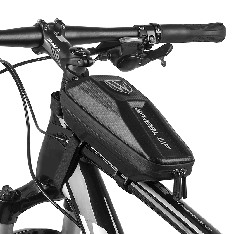 EVA Hard Bicycle Bags Cycling Bike Frame Bag Top Front Tube Waterproof MTB Road Storage Shockproof Bike Accessories PU Fabric
