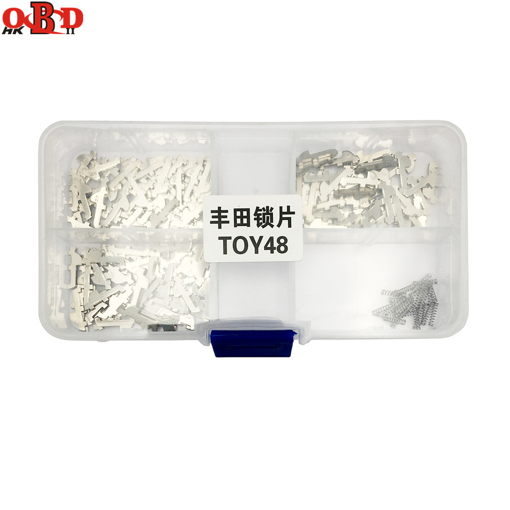 HKOBDII 150pcs lot NO 1 3 5 Each 50PCS TOY48 Car Lock Reed Auto Lock Repair kits Lock Plate for Toyota Crown New Lexus