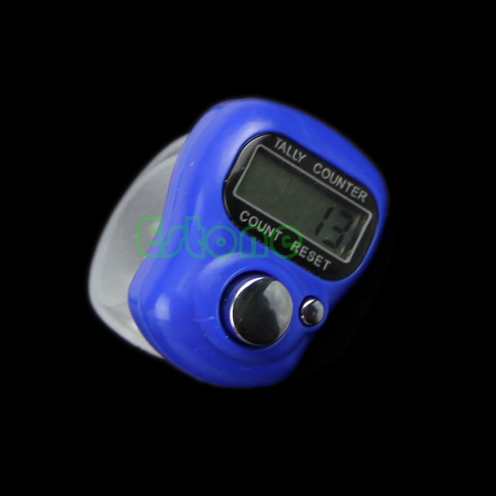 Портативный Горячий стежок маркер и счетчик рядов ЖК дисплей Электронный цифра Tally счетчик