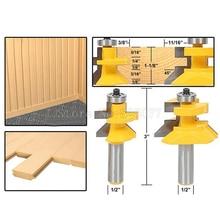 2PCS Woodworking Carbide 45degree Router Bit 1/2
