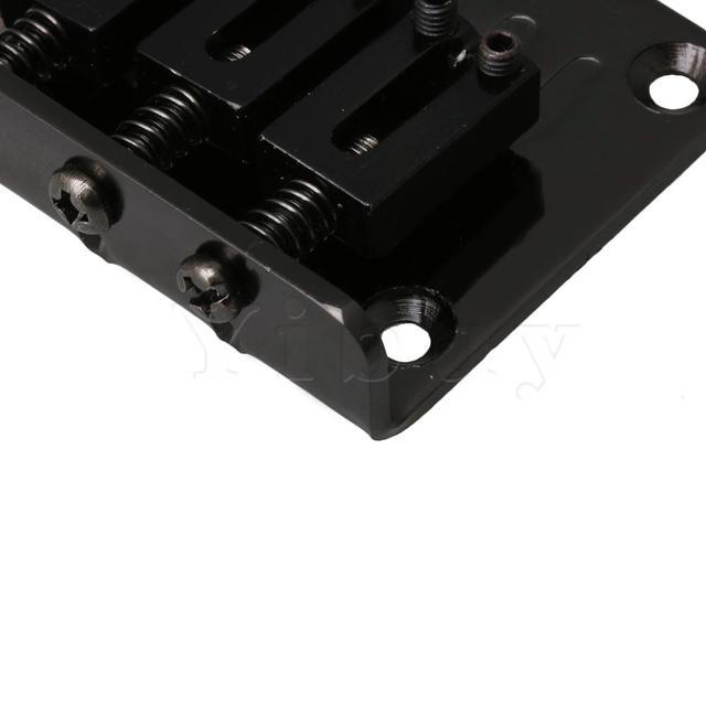 Yibuy10 x alliage de Zinc 3 cordes électrique boîte à cigares guitare pont cordier noir