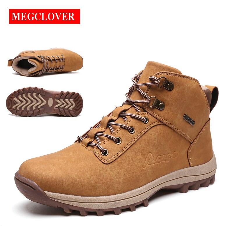 2019 marque hommes chaussures de randonnée automne hiver hommes en cuir mode baskets à lacets en plein air montagne hommes chaussures imperméables Plus 39-46