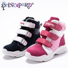 0f4ebae04 Princepard niños ortopédicos zapatos de cuero genuino Deporte Zapatos  ortopédicos para niños y niñas 2018 nuevo estilo caliente .