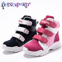Princepard children orthopedic shoes genuine leather sport orthopedic shoes for boys and girls 2018 new style hot sale size21-37