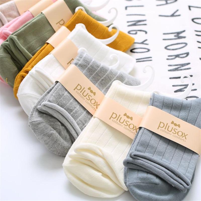 Japanese harajuku summer   socks   women candy solid color standard thickness high quality cotton cute kawaii casual short   sock