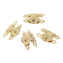 цена 12Pcs 30x18mm Antique Gold Iron Jewelry Box Padlock Hasp Locked Wooden Wine Gift Box Handbag Buckle Hardware Accessories онлайн в 2017 году