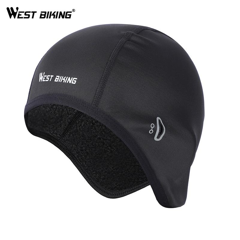 WEST BIKING-Tapas de bicicleta para hombre y mujer, casco térmico con forro para ciclismo de montaña, sombreros para andar en bicicleta, deportes al aire libre, Polar, cálido, para esquiar