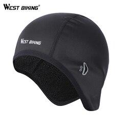 WEST BIKING Bicycle Caps Women Men Winter Thermal Helmet Liner MTB Bike Hats Outdoor Sports Fleece Warm Skiing Cycling Caps