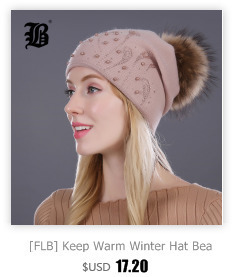 [FLB] Wholesale Real Mink Fur Pom Poms Knitted Hat Ball Beanies Winter Hat For Women Girl 'S Wool Hat Cotton Skullies Female Cap 24