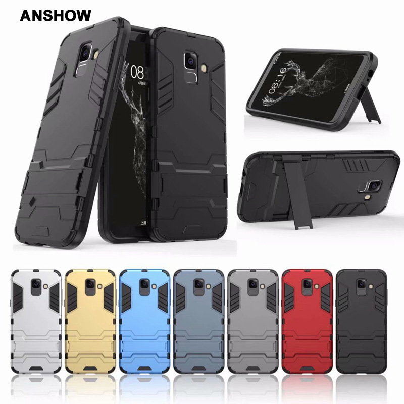 Ironman Case For LG K8 2018 Galaxy A6 Plus Defender Hybrid Hard Plastic+TPU Shockproof Kickstand Holder 2in1 Cover 100PCS