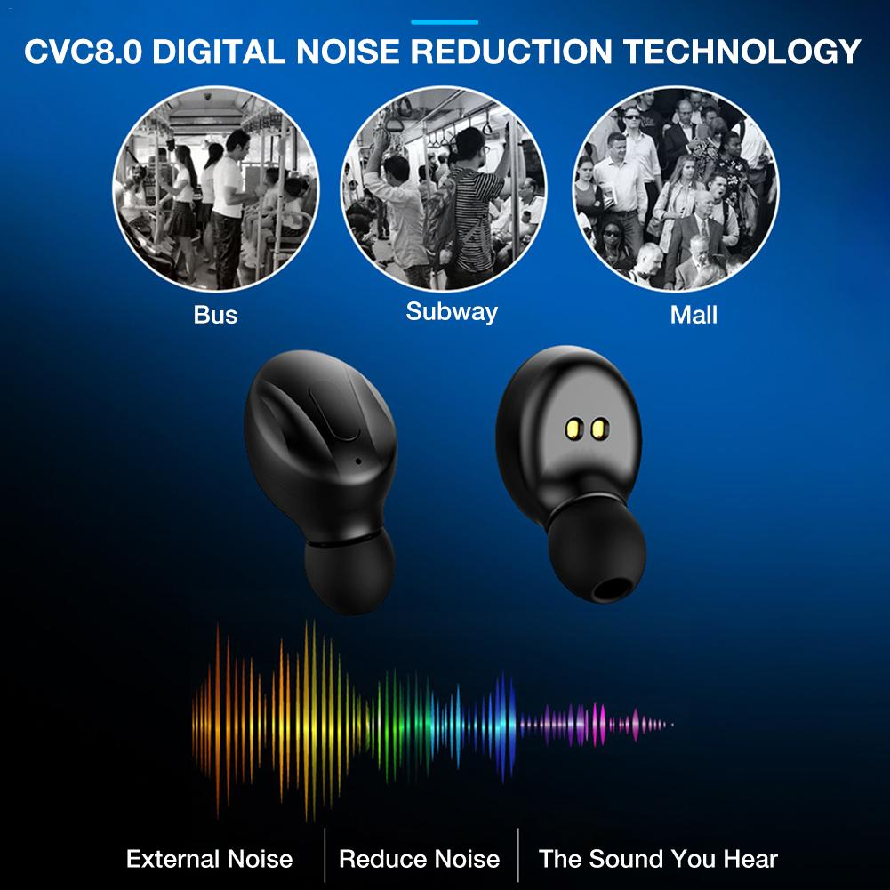 New XG 13 Bluetooth Earphone Button Control Headset Wireless Noise Reduction Mini Bass Stereo Earbuds With Mic and charging box in Bluetooth Earphones Headphones from Consumer Electronics
