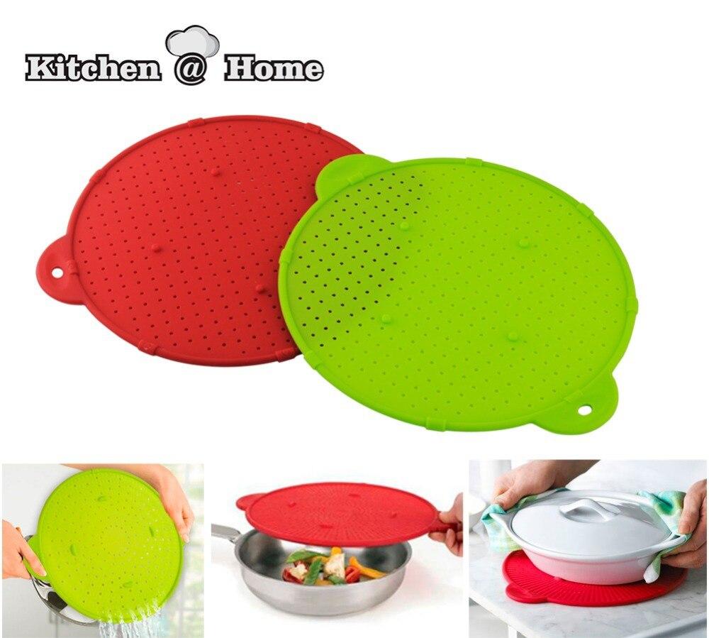 Silicone Splatter Guard Pan Skillet Pan Cover lid Round Spill Stopper Pot Splatter Screen Strainer 1