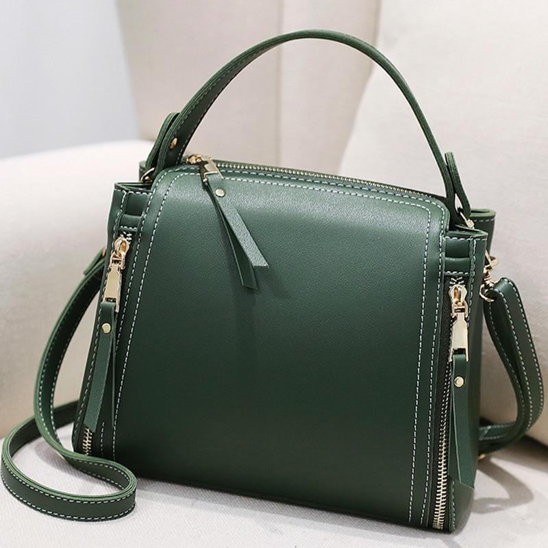 Fashion Bucket Bag Women Small Crossbody Bag Ladies Shoulder Bag Women Leather 2018 Messenger Handbag Bucket Mini Green Сумка