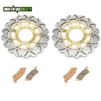 BIKINGBOY Front Brake Discs Disks Rotors Pads For Honda VTX 1800 R S 02 07 VTX 1800 F N 05 11 VTX 1800 T 07 11 VTX 1800 C 02 08