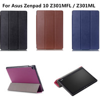 New Ultra Slim With Magnet PU Leather Cover Stand Luxury Case For Asus Zenpad 10 Z301MFL