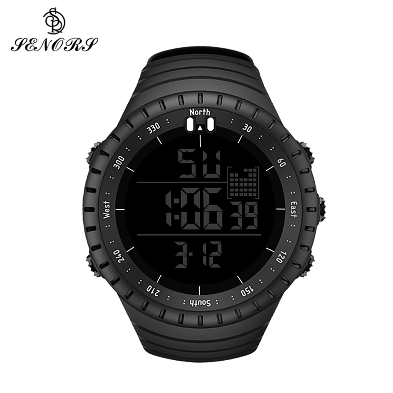 Sport Watch Men Outdoor Digital Watches LED Electronic Wristwatch Military Alarm Male Clock Relogio Masculino Digital by SENORS dropshipping boys girls students time clock electronic digital lcd wrist sport watch relogio masculino dropshipping 5down