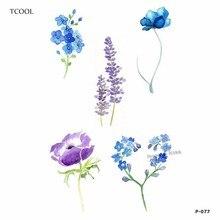 TCOOL Flower Temporary Tattoos Sticker Waterproof Fashion Women Arm Face Fake Body Art 10.5X6cm Kids Adult Hand Tatoo P-077