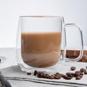 Image 3 - Heat resistant Double Wall Glass Cup Beer Coffee Cup Handmade Creative Beer Mug Tea Cup Whiskey Glass Cups Drinkware