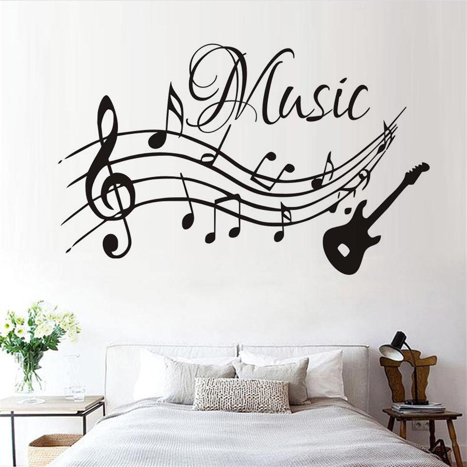 Musical Vinyl Wallpaper: Self Adhesive Musical Notes Music Pvc Vinyl Wall Sticker