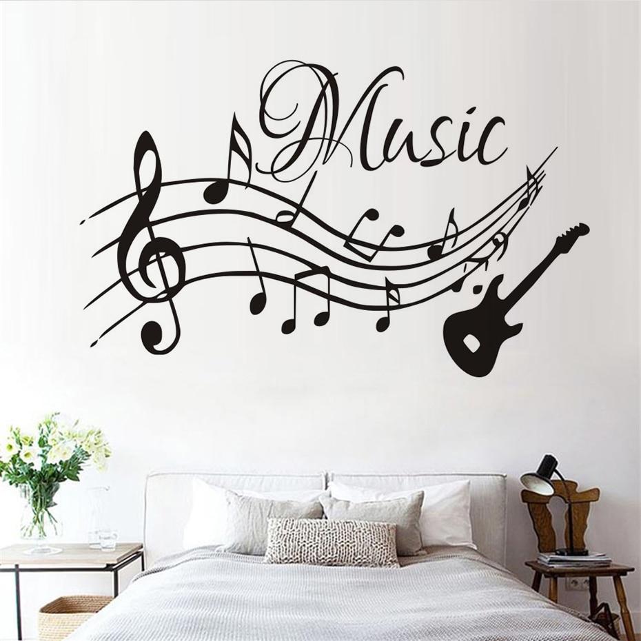 Self Adhesive Musical Notes Music Pvc Vinyl Wall Sticker