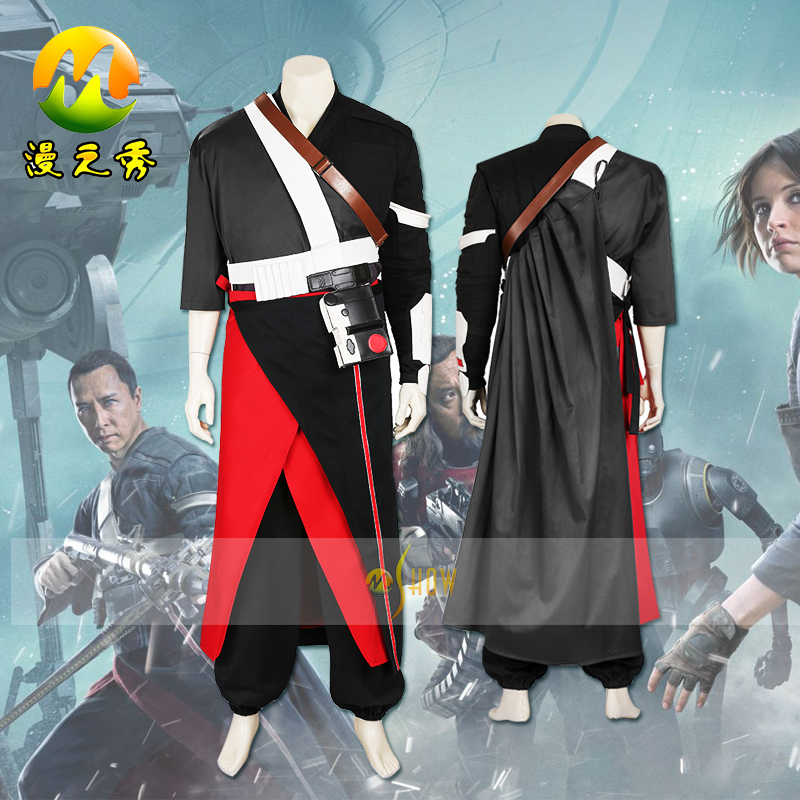 Rogue One A Star Wars Story Chirrut Imwe Cosplay Donnie Yen Costume for Adult font b