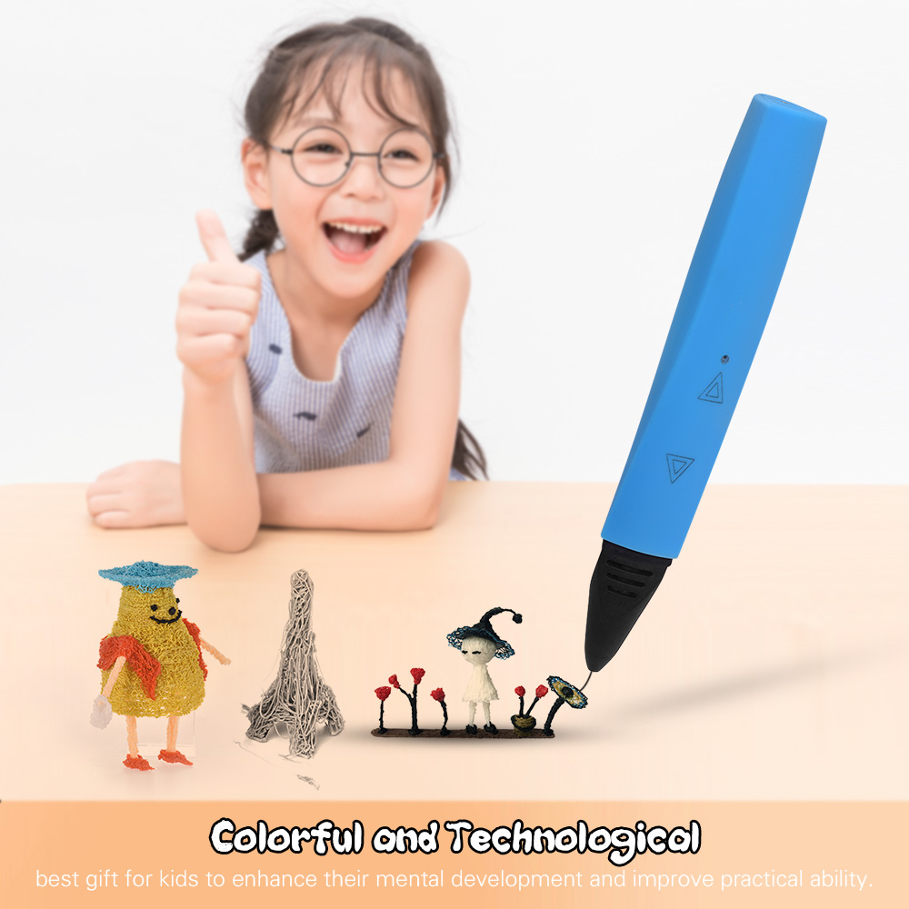 3D Printing Pen with Touchkey Operature Safe Low Temperature 3D Pen 1.75mm PLA/ABS 3D Printing Filaments Intelligent 3D Pens(China)