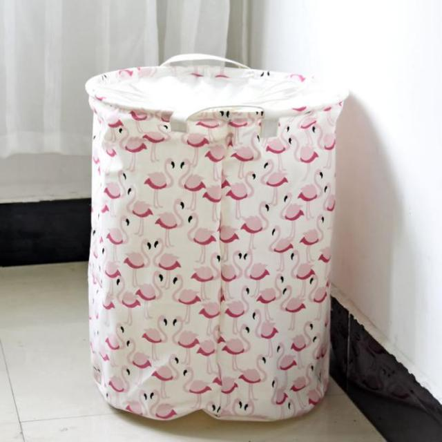 Cute Laundry Bags aliexpress : buy cute swan print round storage buckets laundry