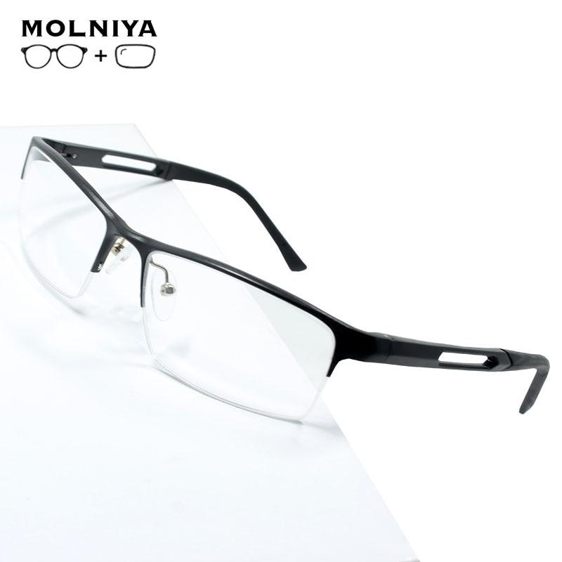 2019 Aluminum Magnesium Prescription Glasses Men Ultralight Square Myopia Prescription Eyeglasses Metal Optical Frame Eyewear