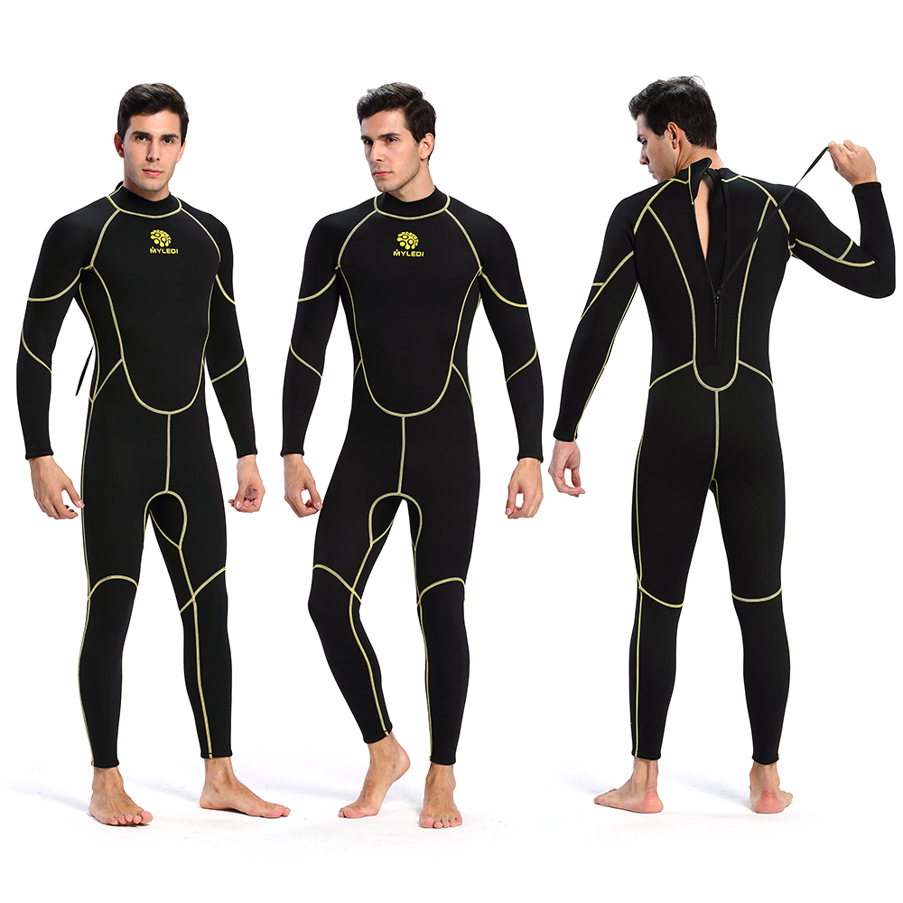 Men s Wetsuit One Piece Full body 3mm Back Zip Scuba Dive Neoprene Wetsuit Swimming Surfing