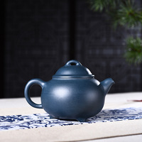 280ml Authentic Yixing Purple Clay Teapot Rare Ore Blue mud Teapot Chinese Kung Fu tea pot Retro Collection tea set