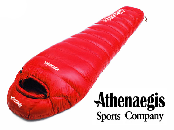Athenaegis 3000G white goose down filling can be spliced mummy ultra-light goose down sleeping bag