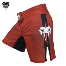 Boxing-Shorts Muay-Thai Venomous-Snake-Clothing Fight Sotf Mma Tiger Sanda Red Geometric