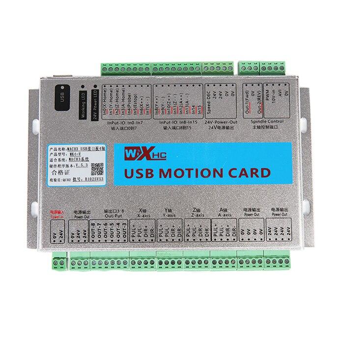 Mise à niveau 2 MHZ 4 AXE MACH3 USB CNC carte contrôleur de mouvement, CE Soutien Windows 7 cnc 4 axes de contrôle usb