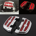 Electra Alo LED Lighted Rear Passenger Footboard Cover Footrest Cover Kit For Harley Touring Trike Softail
